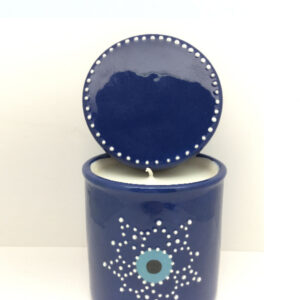 CERAMIC CYLINDER WITH LID